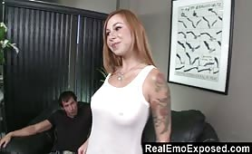 This hot emo babe exhibitionist loves to fuck on cam